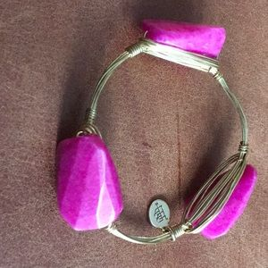 Bourbon and Bowties Fuchsia Stone Bracelet